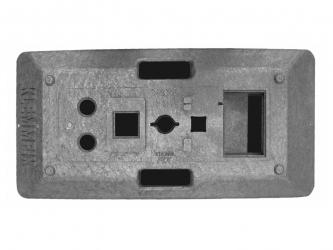Fussplatte mit Bajonettöffnung