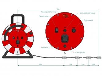 LED Lauflicht-Kabelrolle